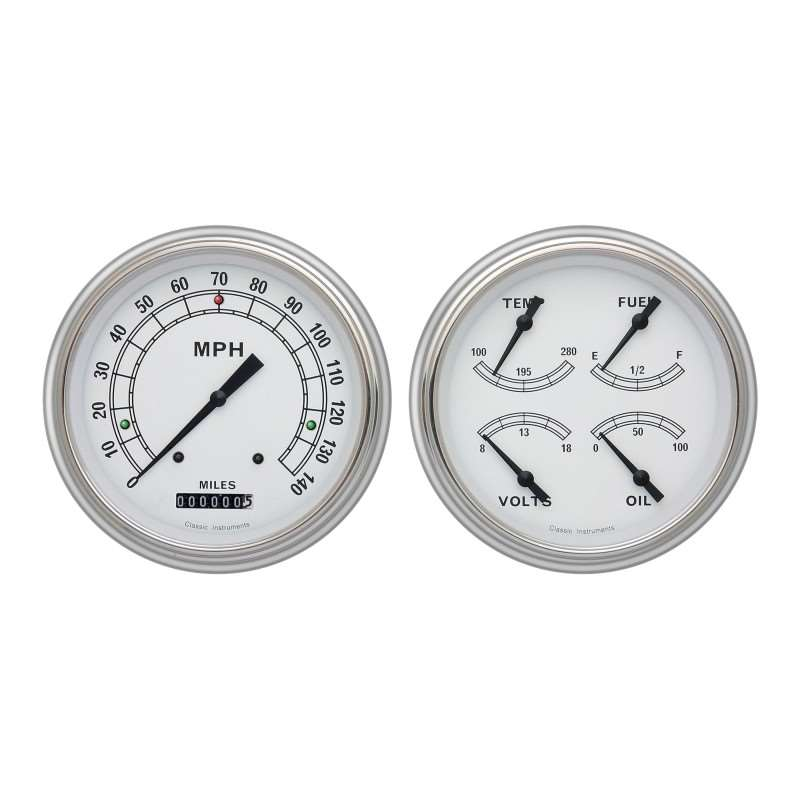 1951-52 Chevy Car Classic White Package | Dash / Steering