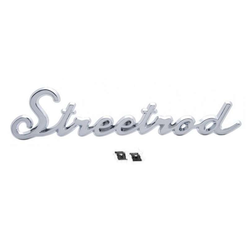 "DISCONTINUE****Chrome ""Streetrod"" Emblem Script Universal Fit Show Car Truck Hot Street Rat Rod"