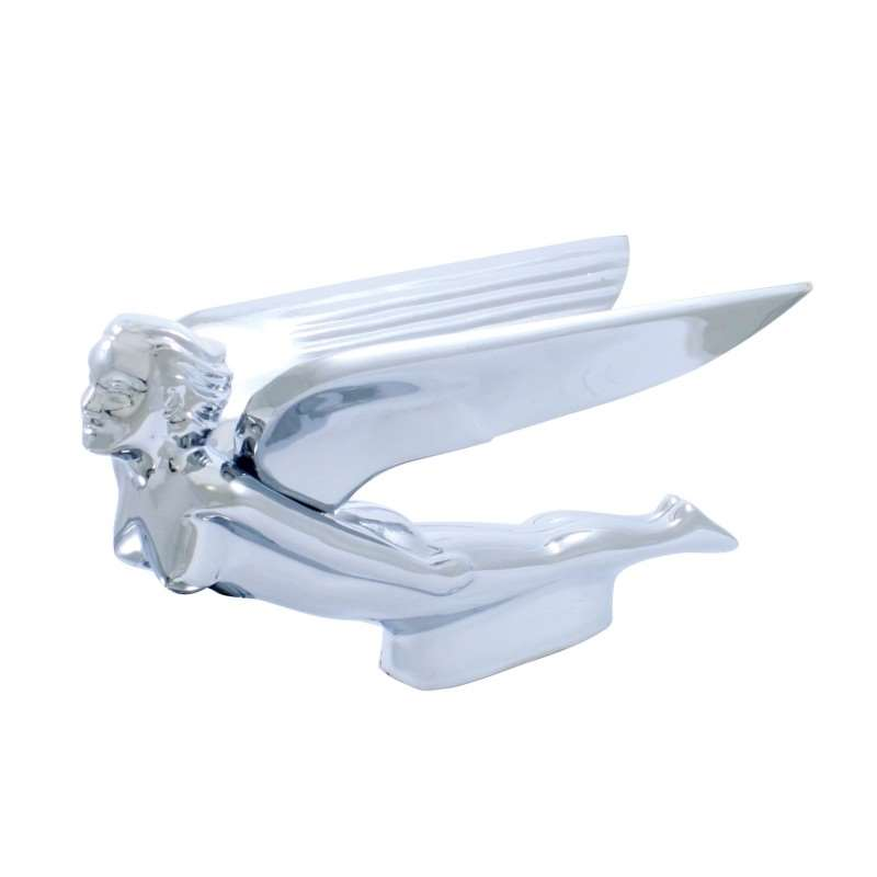 Flying Goddess w/ Horizontal Wings Hood Ornament | Hood Ornaments